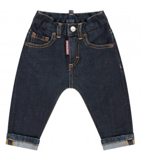 DSQUARED2 Blue ''Icon'' babyboy jeans with writing