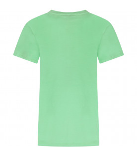 Green boy T-shirt with black logo