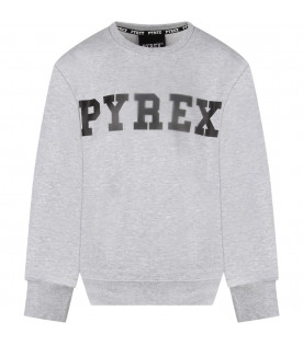 PYREX KIDS Grey kids sweatshirt with black logo