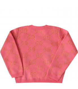 Pink babygirl weater with gold iconic GG