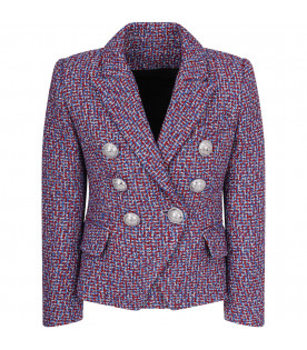 Multicolor lurex girl jacket