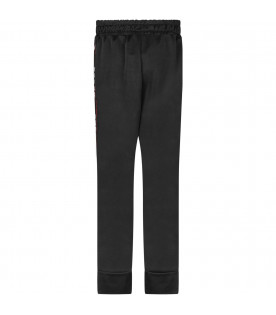 Black girl sweatpant with silver logo