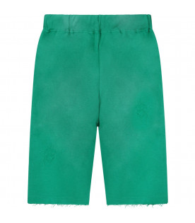 Green boy short with neon yellow logo