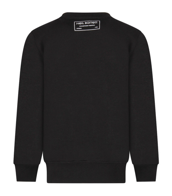 NEIL BARRETT KIDS Black boy sweatshirt with print