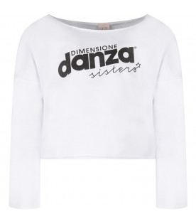 DIMENSIONE DANZA White girl T-shirt with black logo