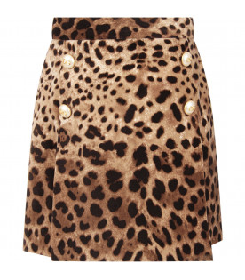Animalier print girl skirt