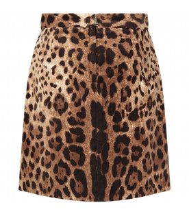 Animalier print skirt for girl