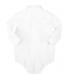DOLCE & GABBANA KIDS White babyboy shirt with black logo