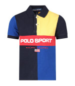 Ralph Lauren Kids Color block boy polo shirt with red logo