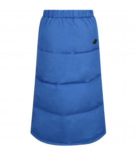 BOBO CHOSES Blue padded girl skirt