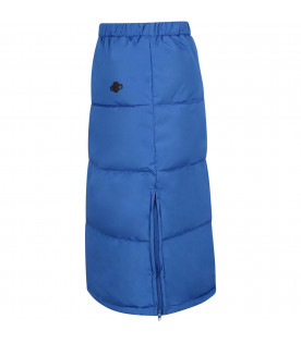 Blue padded girl skirt