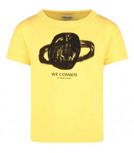 Yellow kids t-shirt with Saturn