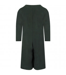 Green girl jumpsuit with patch