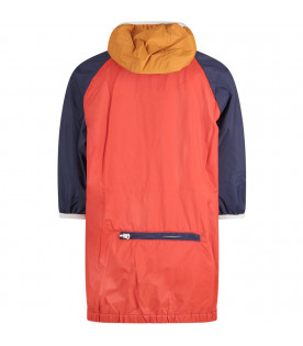 Colorblock kids wind breaaker jacket