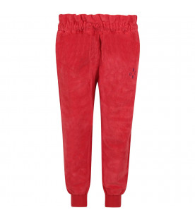 BOBO CHOSES Red boy pants with blue logo