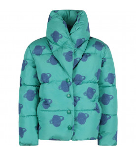 BOBO CHOSES Green padded kids jacket with Saturn