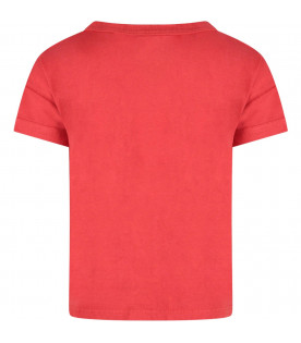 BOBO CHOSES Red kids t-shirt with logo
