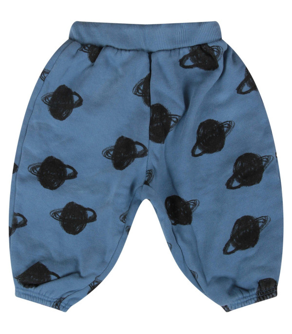 BOBO CHOSES Light blue baby boy sweatpants with Saturn