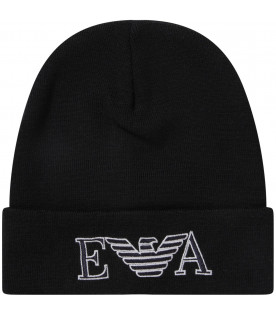 Blue boy hat with logo and eagle