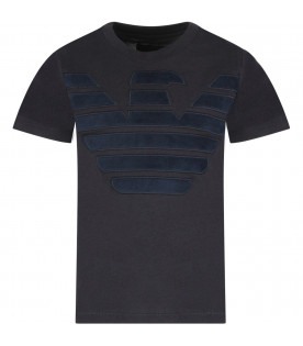 Blue boy T-shirt with iconic eagle