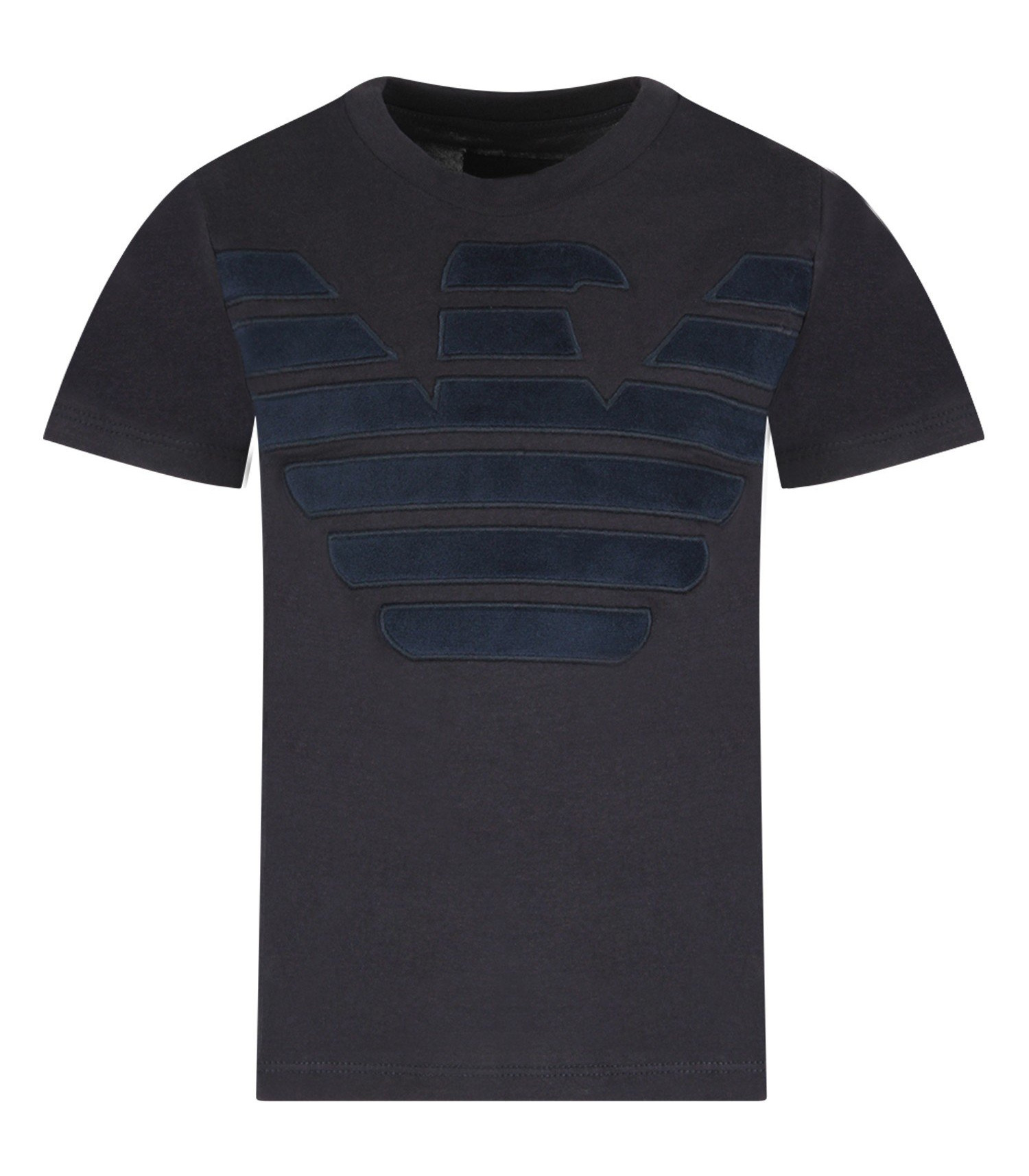 Armani Junior Blue boy T-shirt with iconic eagle