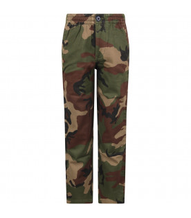 RALPH LAUREN KIDS Camouflage boy pants with iconic horse