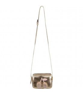 BONPOINT Gold girl bag with cherry