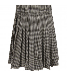 Pied de poule girl skirt