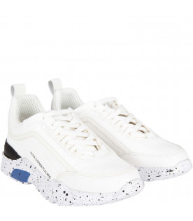 "Sneaker bianche ""Never look back it's all ahead"" per bambini"