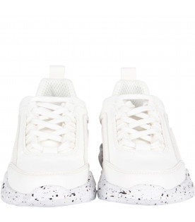 "MSGM KIDS Sneaker bianche ""Never look back it's all ahead"" per bambini"