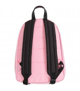 MSGM KIDS Pink girl backpack with white and purple logos