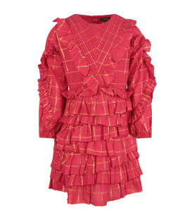 VELVETEEN Red ''Winona'' dress with frilles