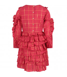 Red ''Winona'' dress with frilles