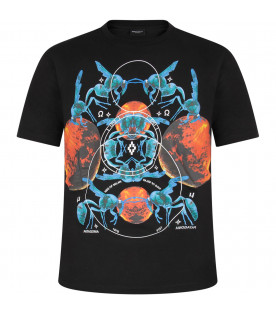 Black boy T-shirt with Mars and bugs