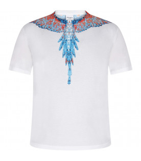 White boy T-shirt with light blue and red iconic wings