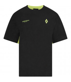 Black and neon yellow boy T-shrt with iconic cross