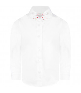 White ''Aletheia'' girl shirt with iconic collar