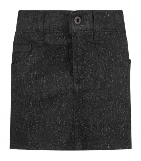DONDUP KIDS ELEGANT SKIRTS NERO