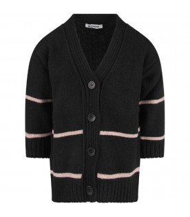 Black girl cardigan with logo
