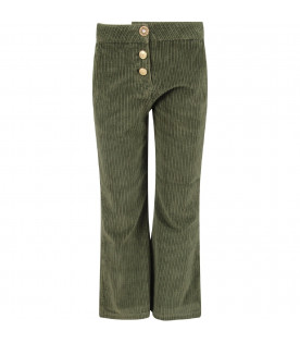Green pants for girl with iconic D