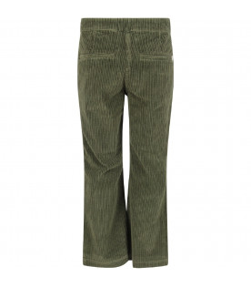 DONDUP KIDS Green girl pants with iconic D