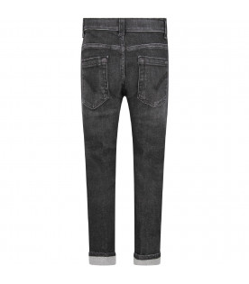 Grey ''George'' jeans for boy with iconic D