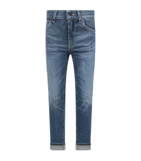 Denim light blue ''George'' boy  jeans with iconic D