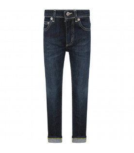 DONDUP KIDS Denim blue ''George'' boy  jeans with iconic D