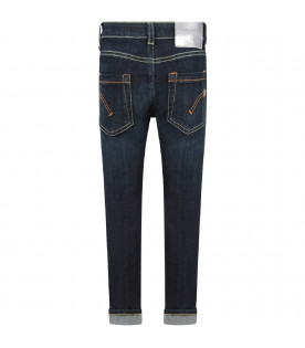 Denim blue ''George'' boy  jeans with iconic D