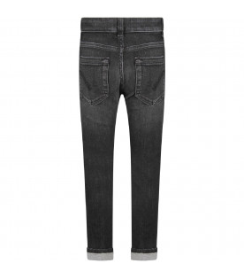 Grey ''Monroe'' girl jeans with iconic D