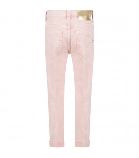 Pink ''Surie'' girl  jeans with iconic D