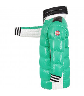 COLMAR ORIGINALS KIDS Neon green, white and black girl jacket with iconic logo
