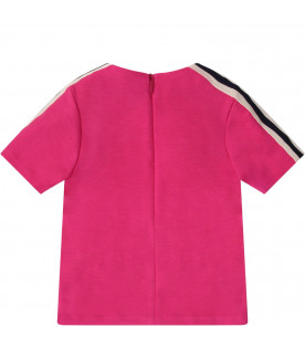Fucshia dress for baby girl with iconic GG