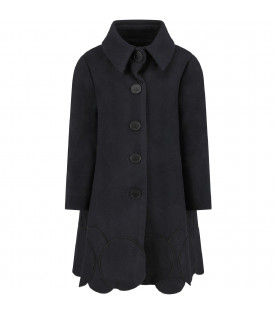 OWA YURIKA Black ''Sakura'' girl coat con patch